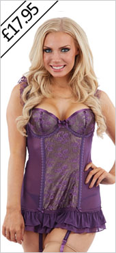 Purple Basque Set