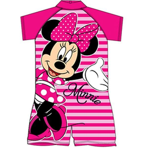 Minnie Mouse Pink Stripe Surf Suit