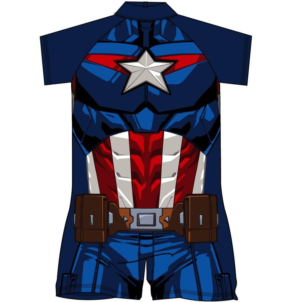 Captain America Costume Surf Suit