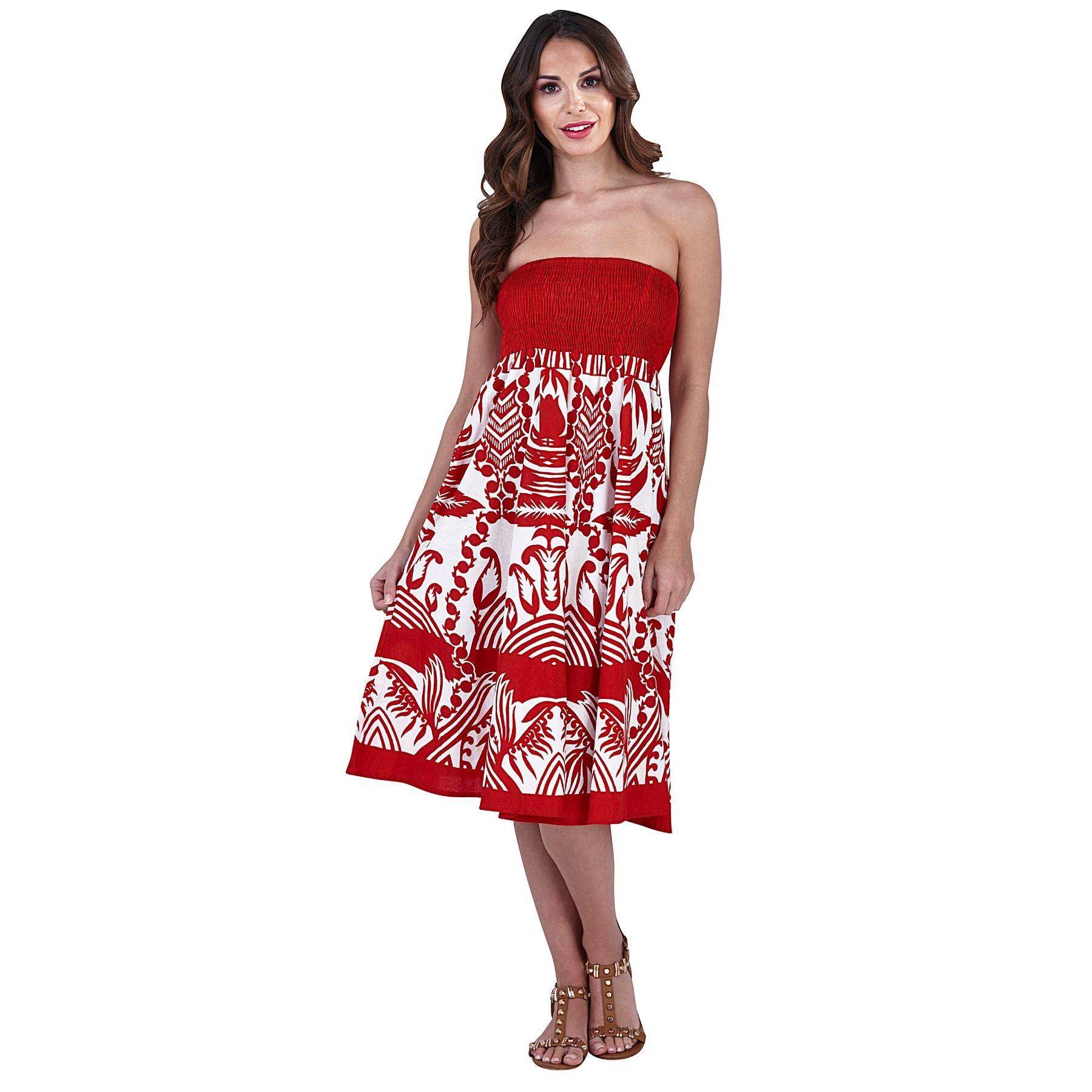 Pistachio Floral 2 in 1 Dress - Red