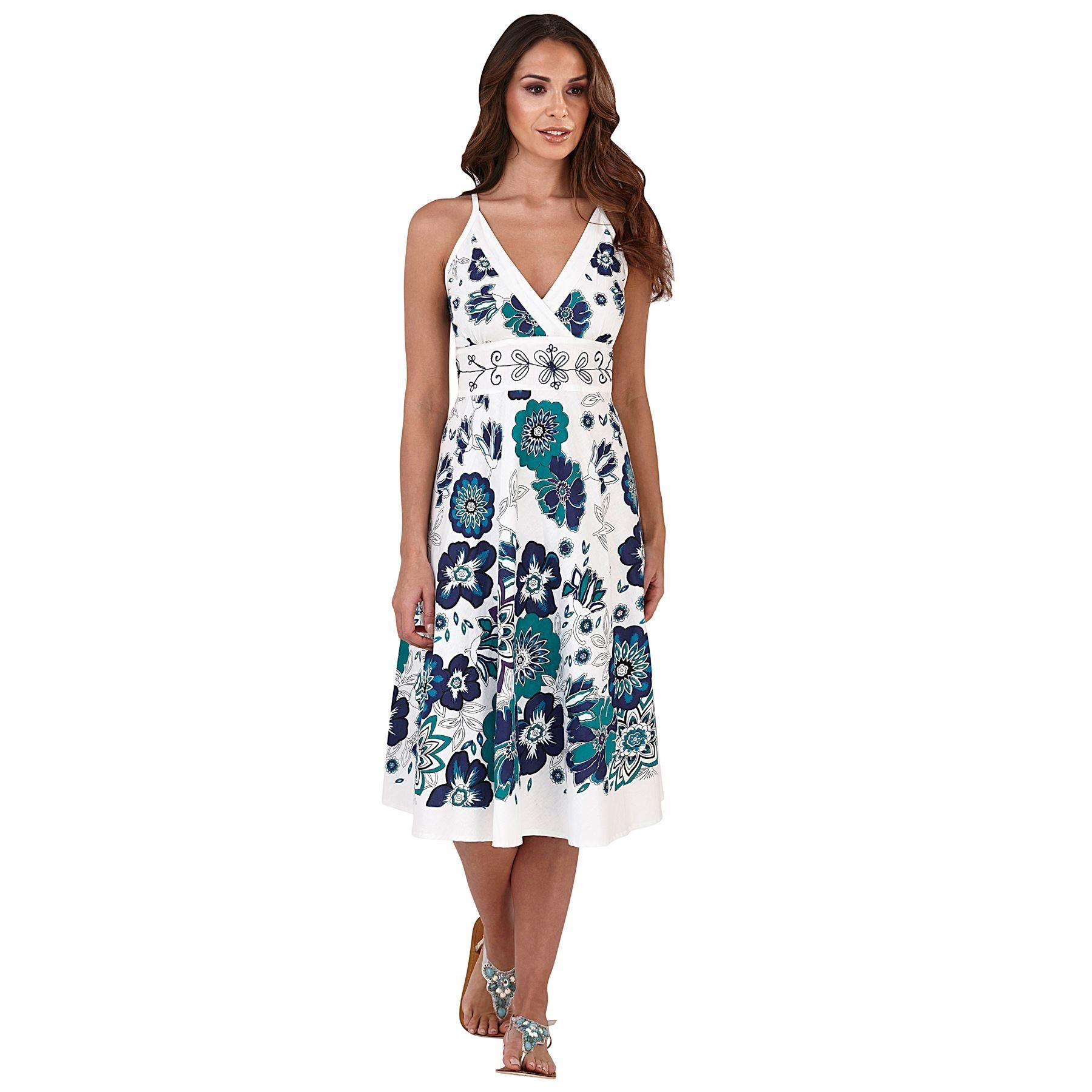 Pistachio Embroidered Crossover Dress - Green