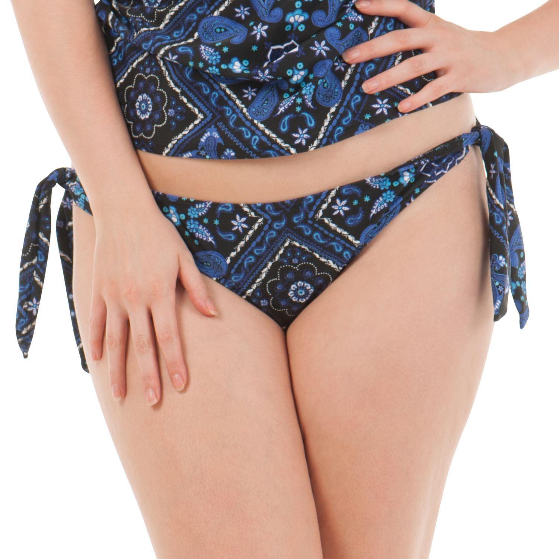 Curvy Kate Free Spirit Tie Side Brief - Blue Mix