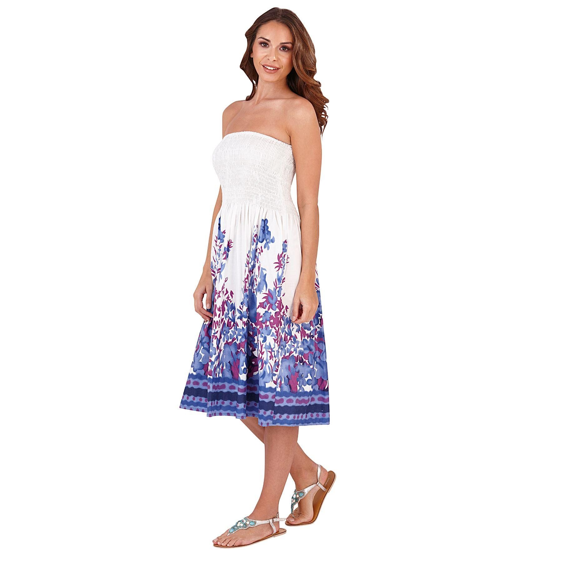Pistachio Floral Print 3 in 1 Dress - Purple