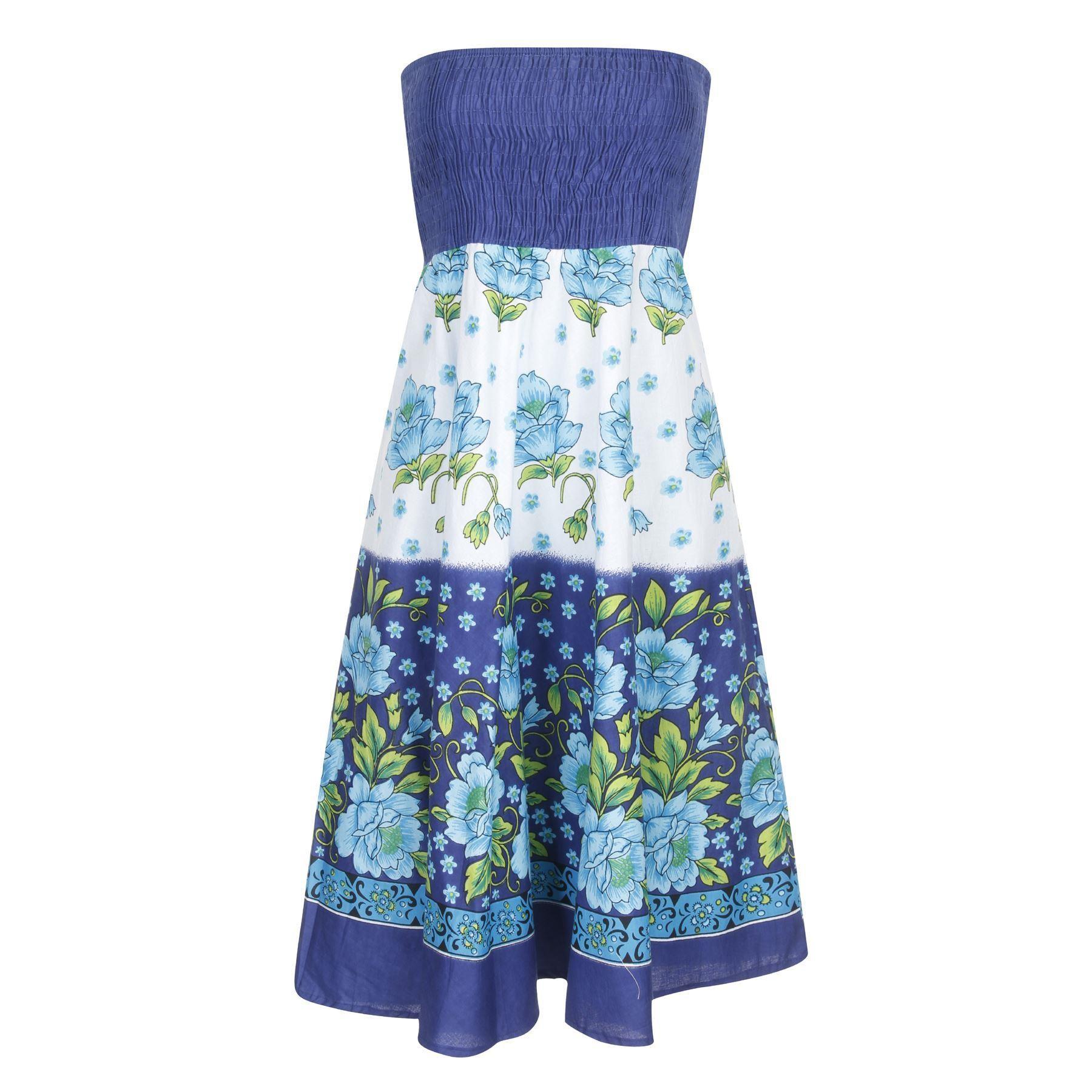 Pistachio Floral 2 in 1 Dress - Blue