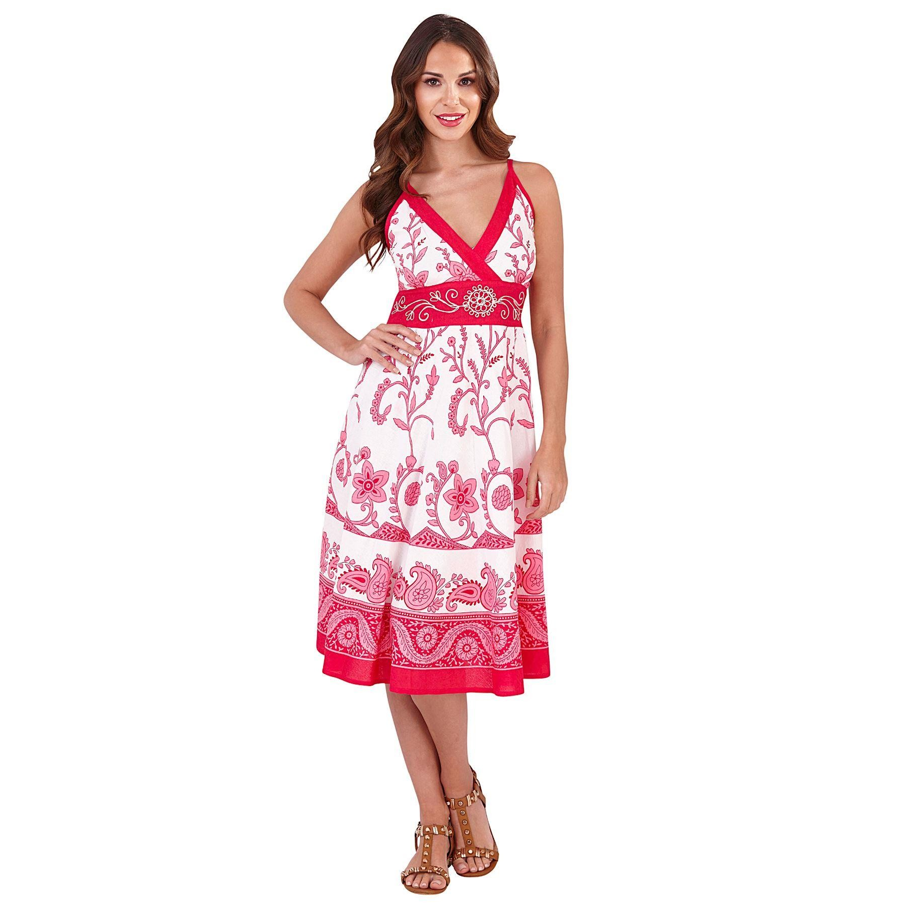 Pistachio Patterned Crossover Dress - Pink