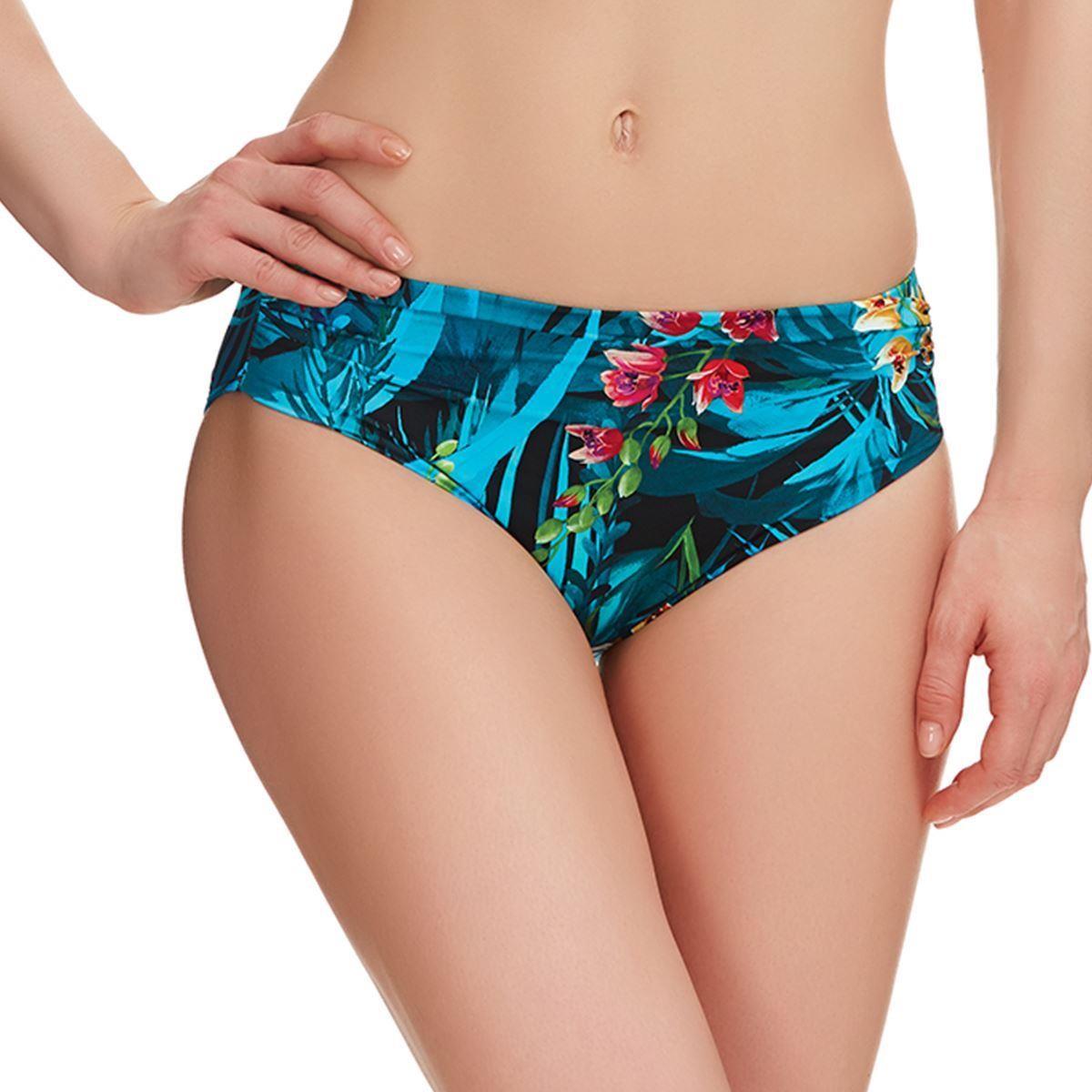 Fantasie Swimwear Seychelles Mid Rise Gathered Bikini Brief/Bottoms - Azure