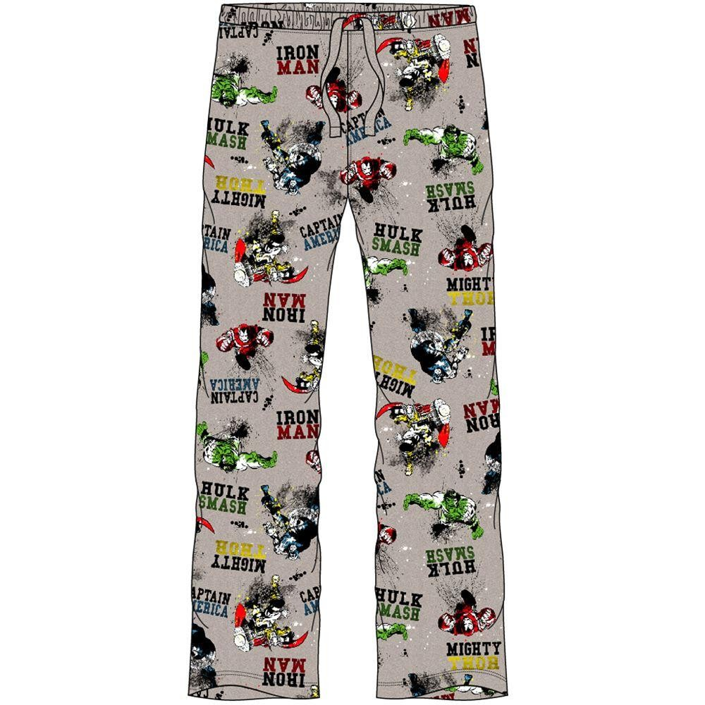 Mens Marvel Avengers Lounge Pants - Grey