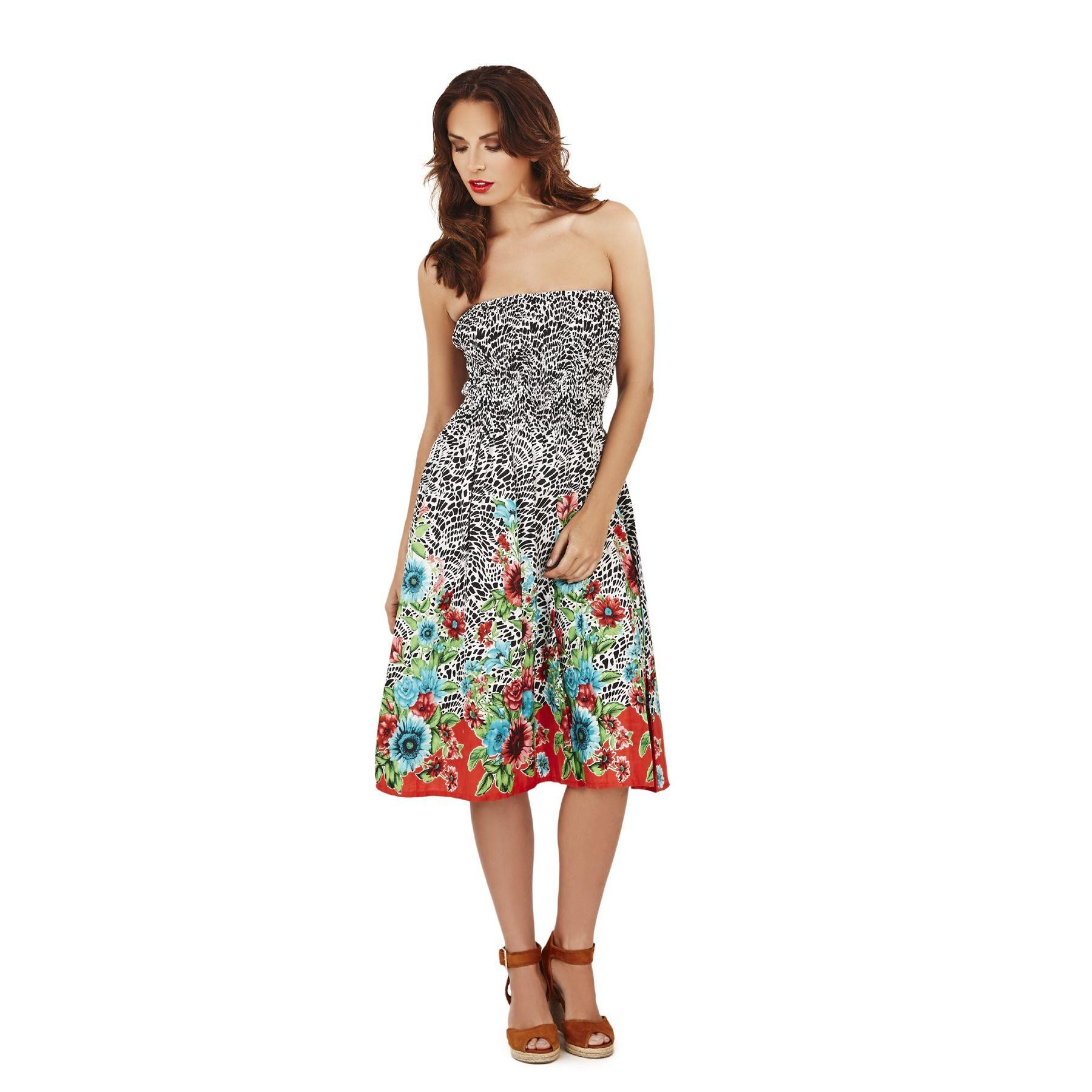 Pistachio Sunflower 3 in 1 Dress - Black/Red