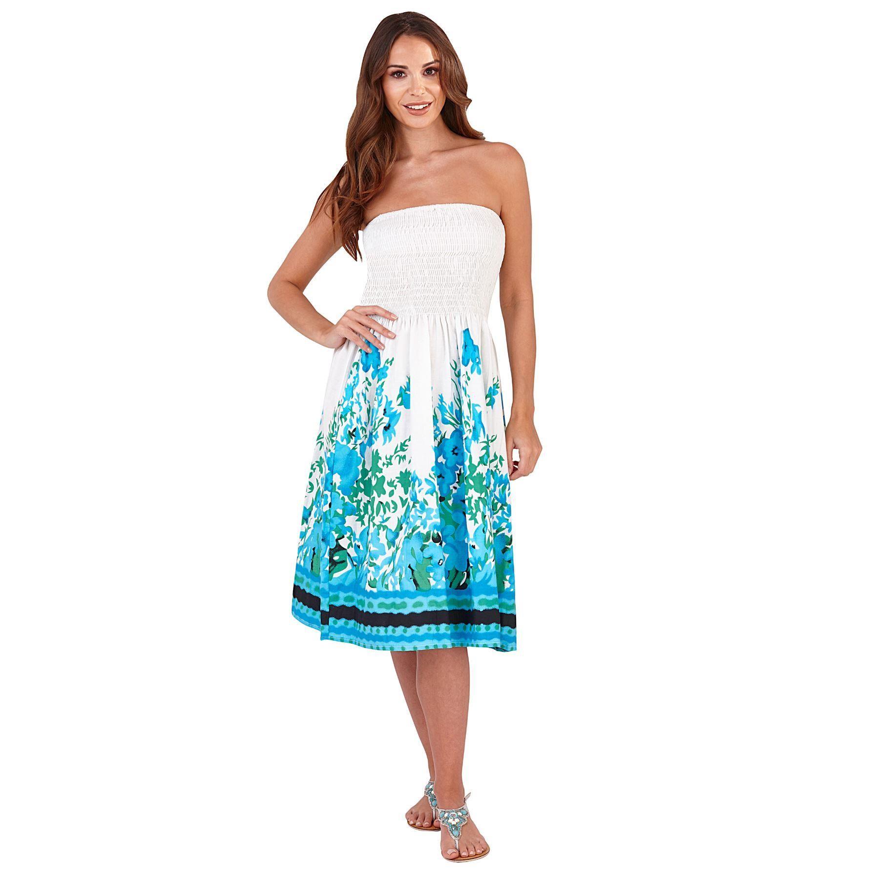 Pistachio Floral Print 3 in 1 Dress - Blue