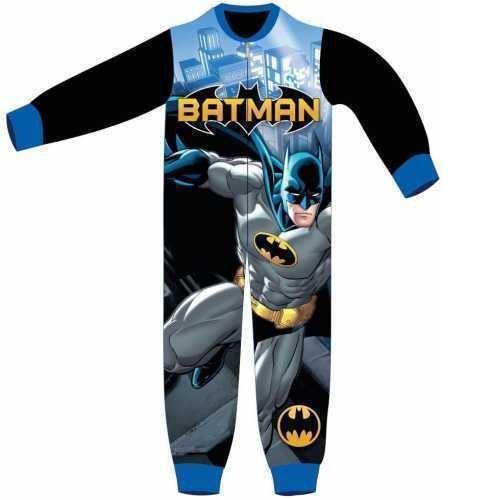 Batman Fleece Onesie - Black/Blue