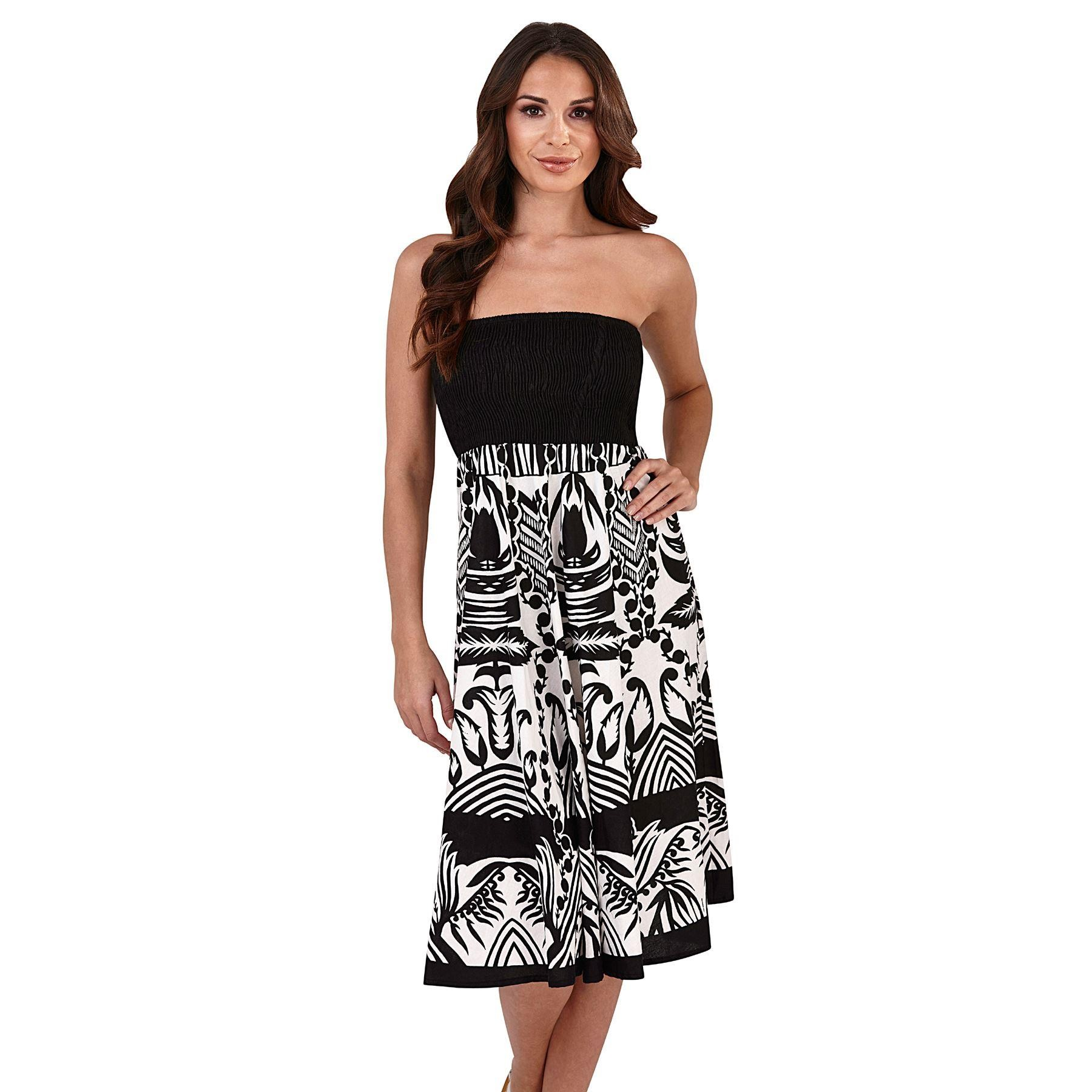Pistachio Floral 2 in 1 Dress - Black