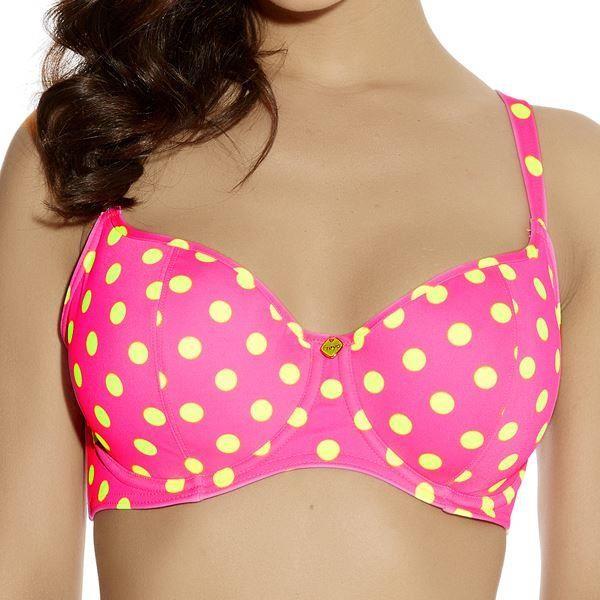 Freya Bon Bon Padded Sweetheart Padded Bikini Top - Bright Pink