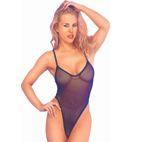 Classified Fishnet Bodystocking - Black