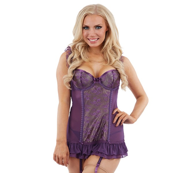 Sunburst Damson Chemise and Suspenders