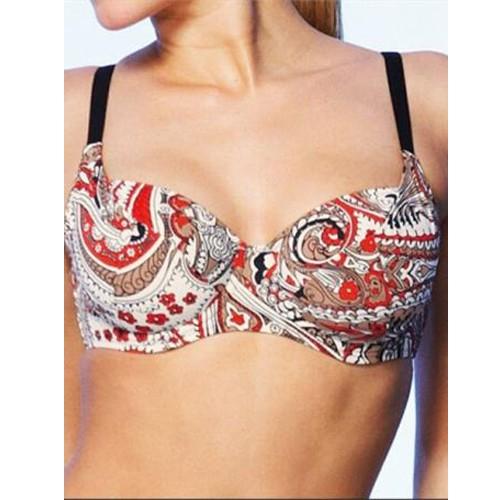 Fantasie Jaipur Underwired Balcony Bikini Top - Chilli