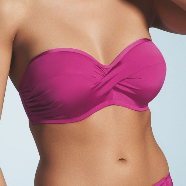 Fantasie Corsica Bandeau Bikini Top - Pink Flambe