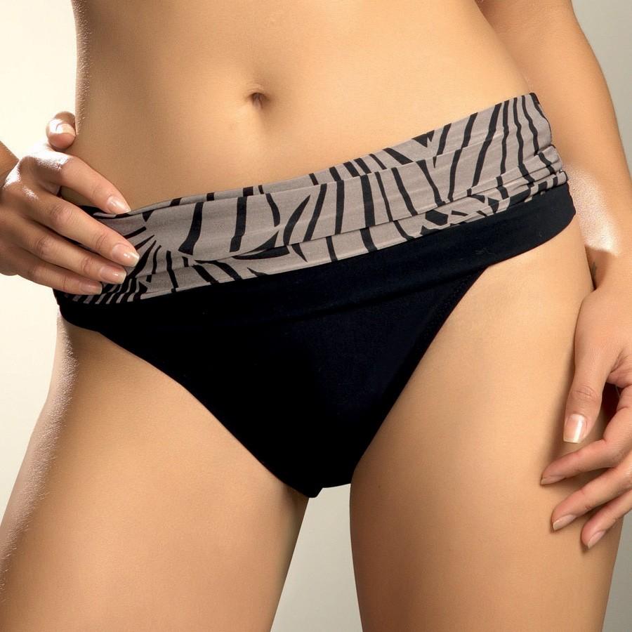 Fantasie Goa Gathered Fold Bikini Briefs - Black