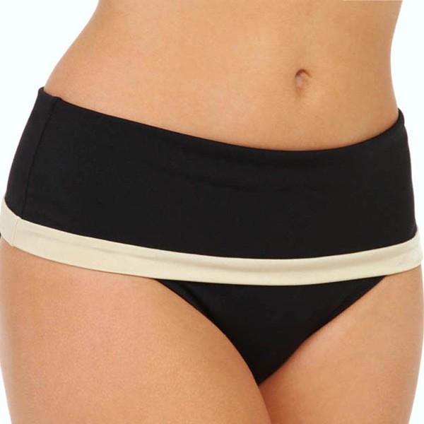 Fantasie Malawi Classic Fold Bikini Briefs - Black/Gold