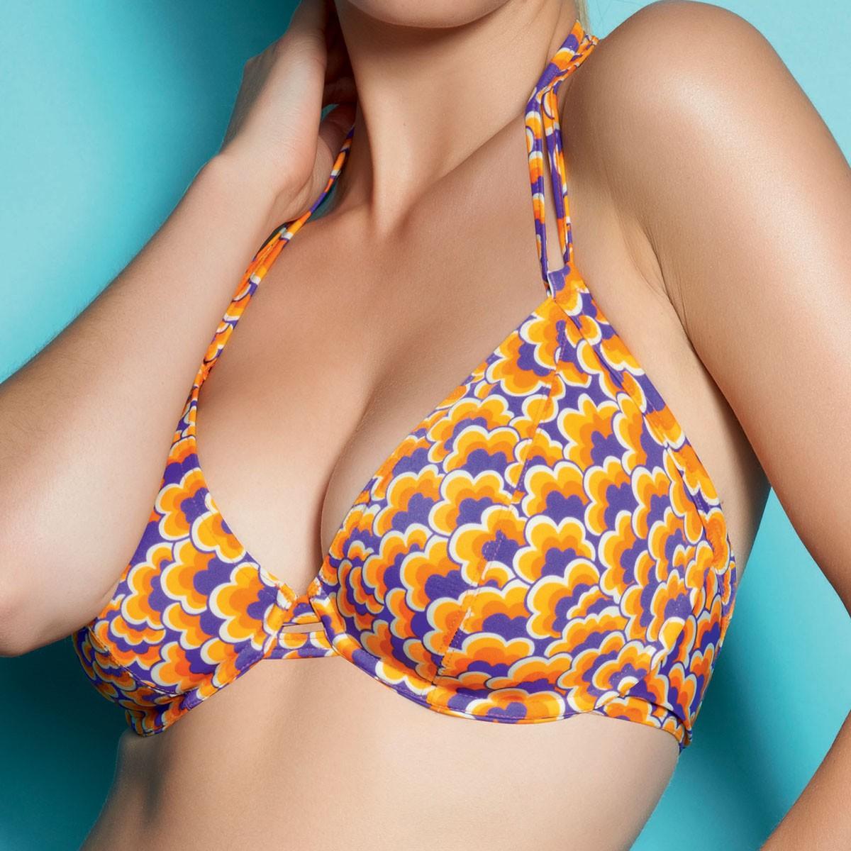 Freya Boogie Triangle Halter Bikini Top - Firefly