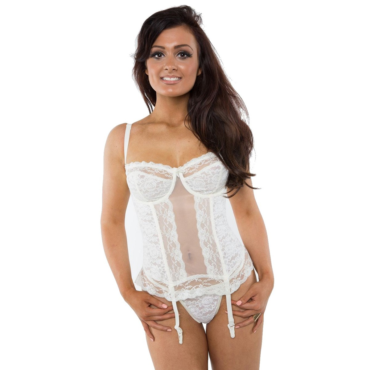 Gemm Lace Style Basque - White