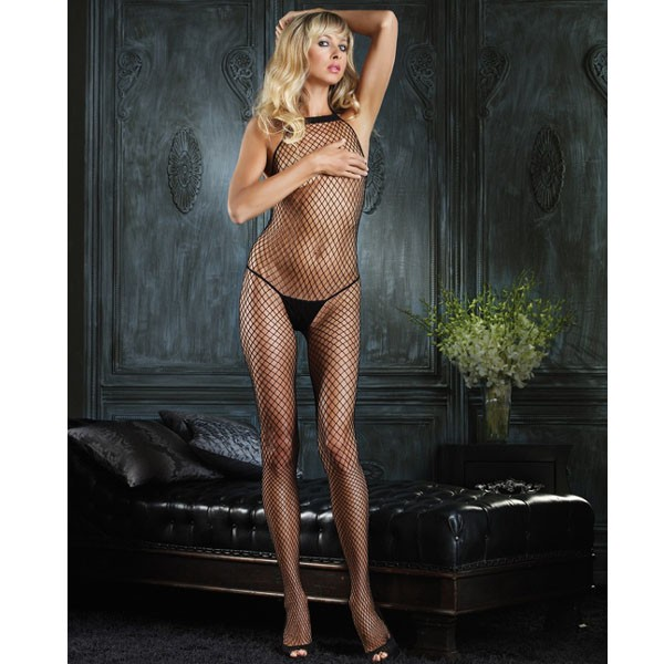Leg Avenue Halter Neck Industrial Net Bodystocking