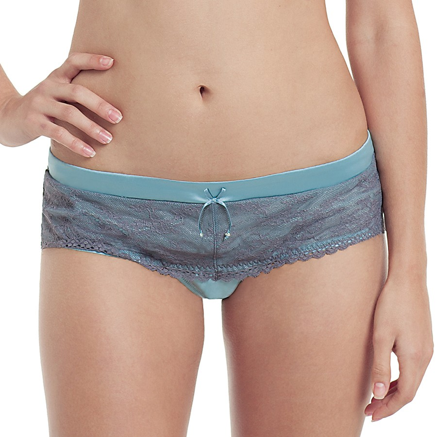 Masquerade Antoinette Brief - Sky Blue/Charcoal