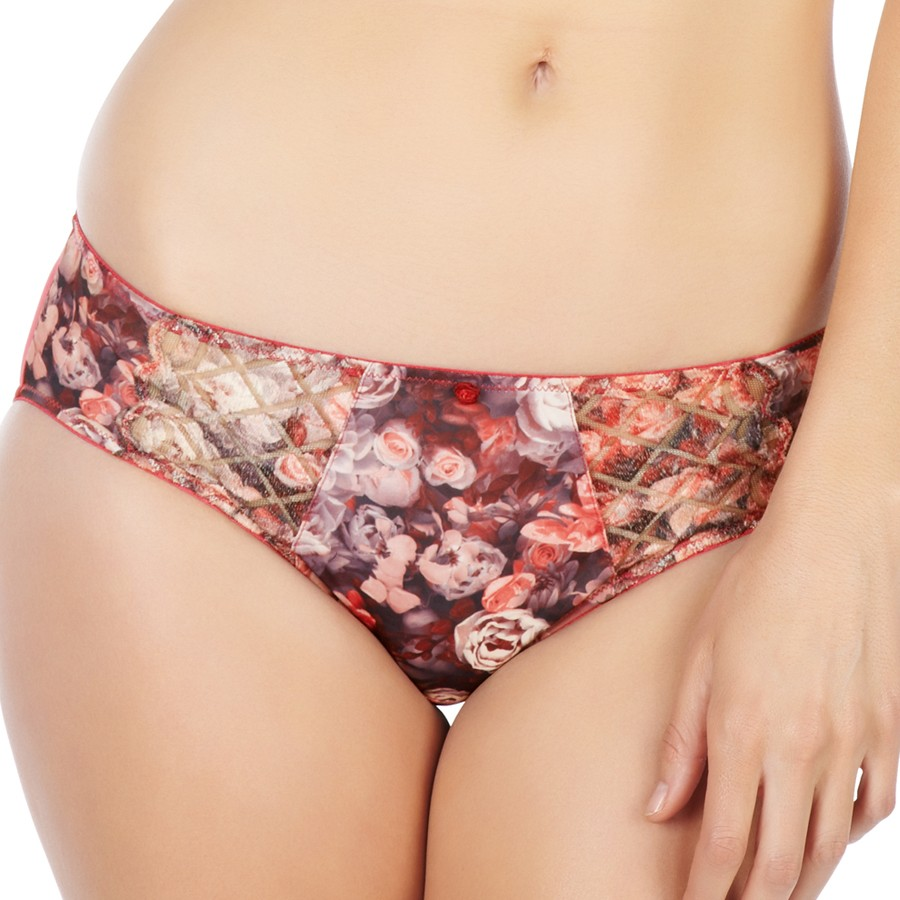 Panache Floris Brief - Rose Print