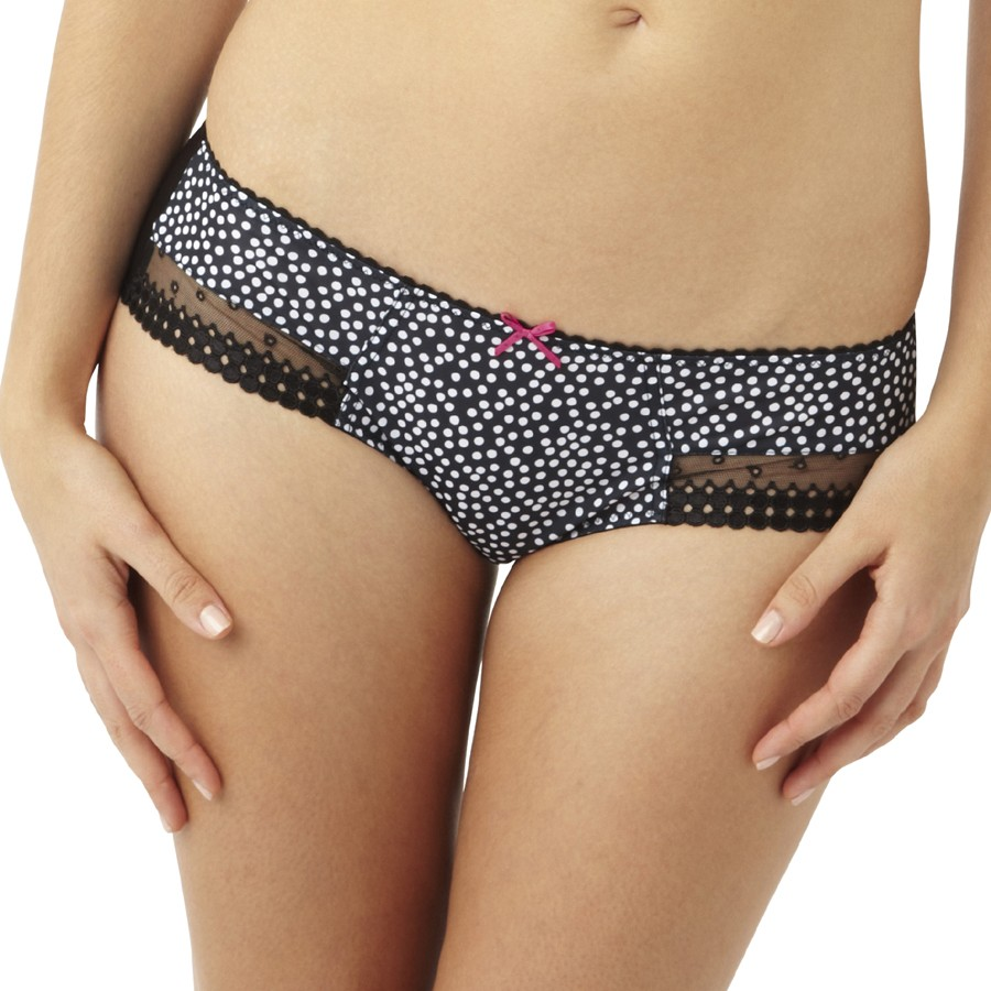 Panache Cleo Minnie Brief - Black/White Spot