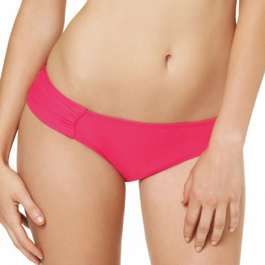 Panache Cleo Dolly Gathered Bikini Pant - Strawberry