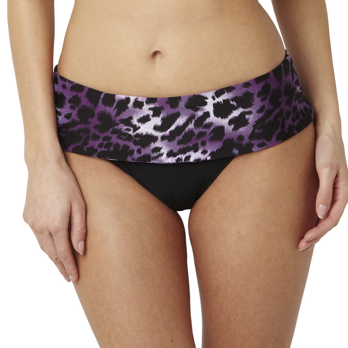 Panache Tallulah Fold Bikini Brief - Purple Animal
