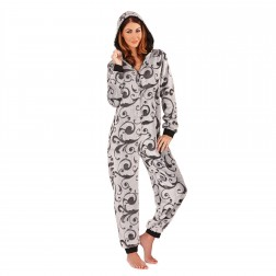 Loungeable Boutique Swirl Onesie - Grey/Black
