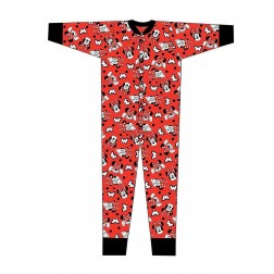 Minnie Mouse 'M' Jersey Onesie - Red