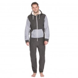 Onezee Contrast Fleece Onesie - Grey