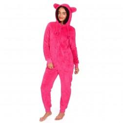 Onezee Snuggle Fleece Onesie - Hot Pink