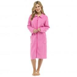 Walter Grange Ladies Zip Through Robe - Pink