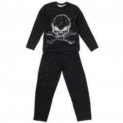 Children's Skull and Crossbones Pyjamas - Black