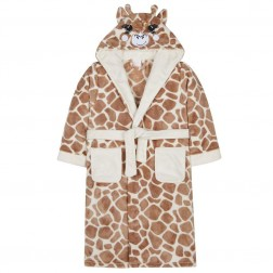 Kids Novelty Giraffe Fleece Robe