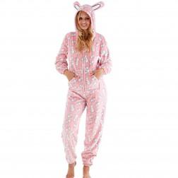 Selena Secrets Rabbit Print Onesie - Pink