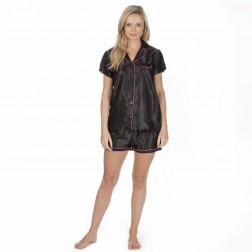 Forever Dreaming Short Satin Pyjama Set - Black