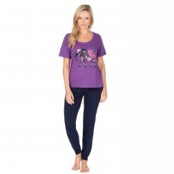 Forever Dreaming Elephant Logo Pyjama Set - Purple