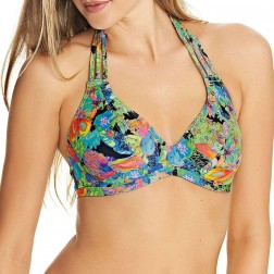 Freya Island Girl Banded Halter Bikini Top - Black