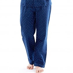 Harvey James Mens Paisley Flannel Lounge Pants (2 Pack) - Blue