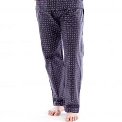 Harvey James Mens Paisley Flannel Lounge Pants (2 Pack) - Grey