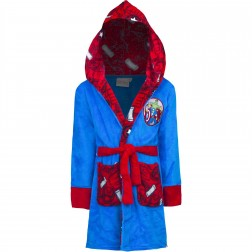 Kids Marvel Avengers Fleece Robe - Blue