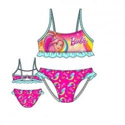 Girls Barbie Rainbow Bikini Set - Pink/Blue