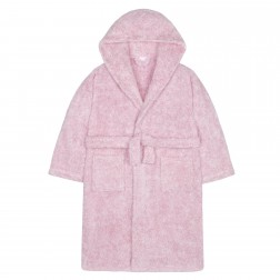 Kids Two Tone Fleece Robe - Pink