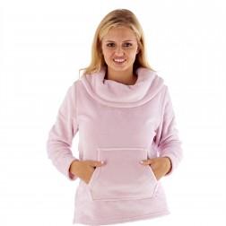 Masq Flannel Fleece Snuggle Top - Pink