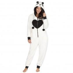 Onezee Panda Fleece Onesie - Cream