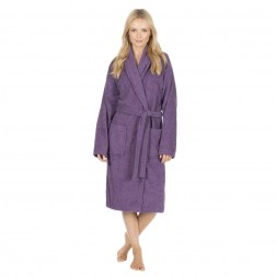 Forever Dreaming Cotton Towelling Robe - Plum