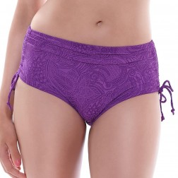 Fantasie Lombok Adjustable Leg Bikini Short - Purple Haze